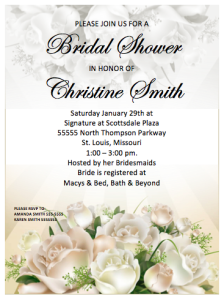 Wedding Party Invitation Flyer Template