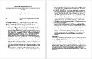 Technology Assignment Agreement Template