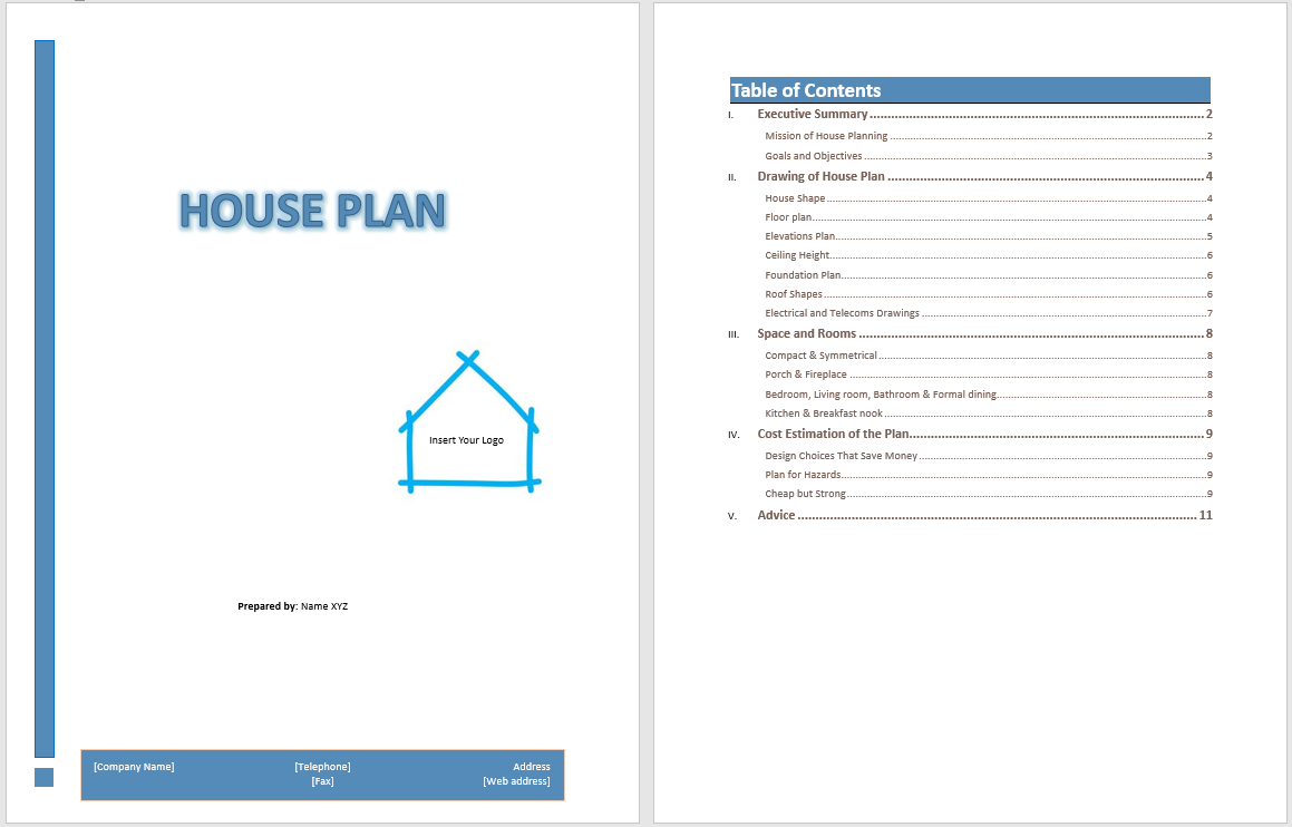 House Plan Template