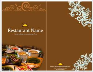 Dinner Menu Design
