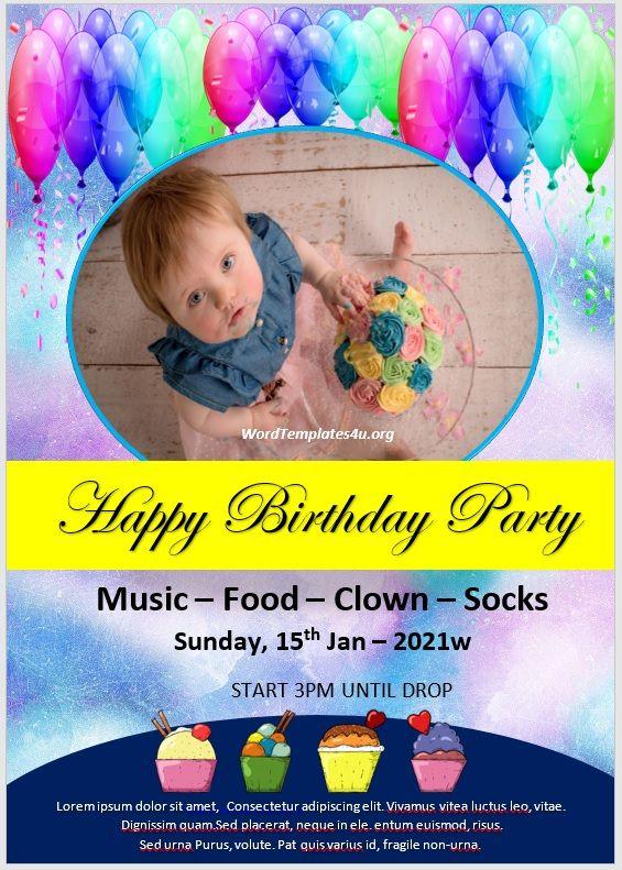 Birthday Invitation Flyer Template 04