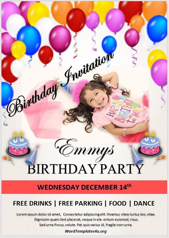 Birthday Invitation Flyer Template 06