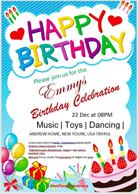 Birthday Invitation Flyer Template 08