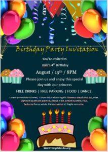 Birthday Invitation Flyer Template 09