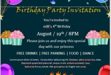 Birthday Invitation Flyer Template 09