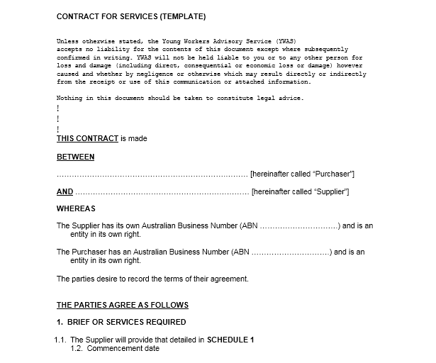 Service Agreement Template 19