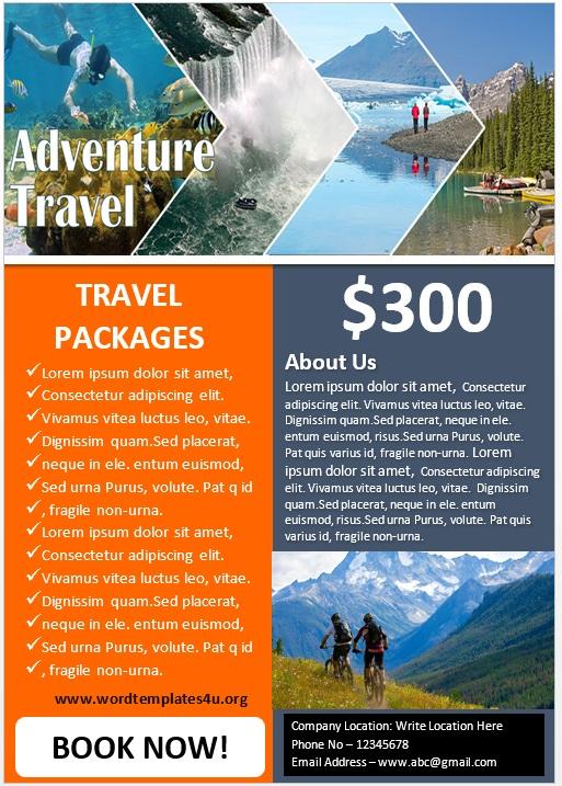 Adventure Tour Poster Template