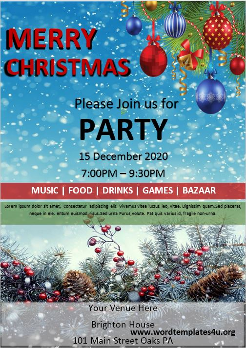 Christmas Party Brochure Template