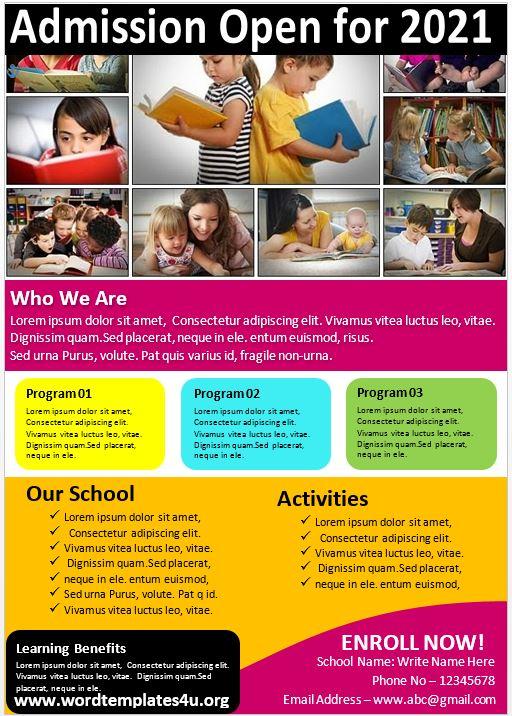 Educational Brochure Template