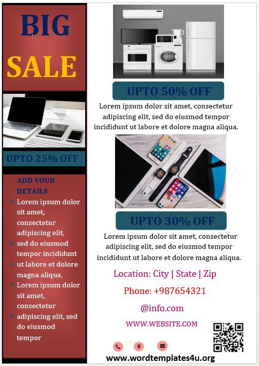 Electronics Sales Brochure Template